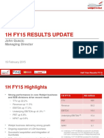 3 Half Year Results Slide Presentation 18 Feb