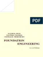 Foundation Engineering by peck & hanson