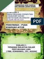 Peranan Malaysia Dalam Pertubuhan Luar
