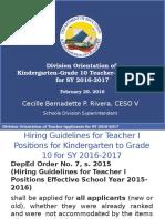 Div Orientation of Kindergarten-Grade 10 Teacher-Applicants Feb 29, 2016.pptx