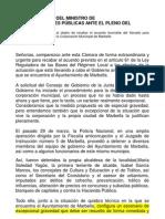 DISOLUCIÓN AYUNTAMIENTO DE MARBELLA