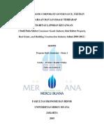 Isi Cover Pengaruh Corporate Governance, Ukuran Perusahaan Dan Leverage Terhadap Integritas Perusahaan