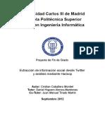 Extracción de información social desde Twitter y análisis mediante Hadoop