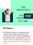 The Employee's State Insurance Act 1948