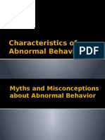 Characteristics of Abnormal Behavior