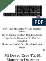 letra de canción gospel Bendito Jesus