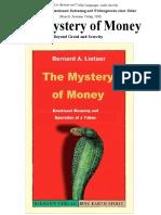 Bernard Lietaer - The Mystery of Money Full Book, 287pp