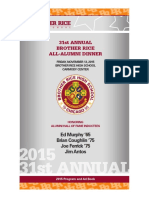 Brother Rice Alumni Dinner Ad Book 2015