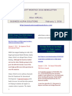AML/CFT MONTHLY 2016 NEWSLETTER