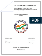 Impact of the world constitution on making of indian constitution