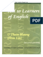 Aids to Learner's of English