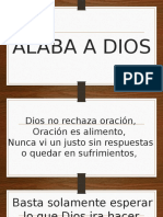 Cancion cristiana Alaba a Dios