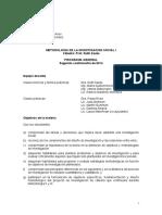 Metodología I Sautu - Programa 2do Cuat2014 Final