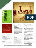 Joseph 14 Gen 42 Handout 040316