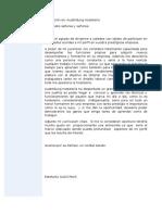 Carta Presentación en Español y Alemán. Estefanía. Hostelería