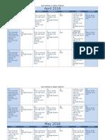 Model beginner running calendar