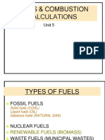 Fuels Combustion Calculation