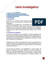 El seminario investigativo
