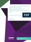 CONDICIONES INSTITUCIONALES Y NORMATIVAS PARA EL   FUNCIONAMIENTO DE LAS   ORGANIZACIONES DE LA SOCIEDAD CIVIL
