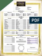 Mage 20 Interactive Char Sheet