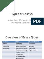 1b Types of Essays Miller