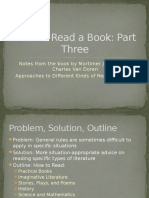 How to Read a Book Part III Different Types
