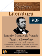 Joaquim Manuel de Macedo - Teatro Completo - Iba Mendes