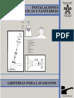 Instalaciones Hidráulicas y Sanitarias - Llave Individual Para Lavamanos. Cierre Corriente 1