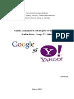 Analiza Comparativa a Strategiilor de Marketing. Studiu de Caz - Google vs Yahoo