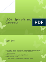 LBO's, Spin Offs and Equity Carve-out