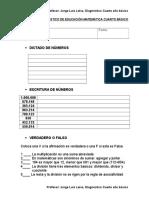 Prueba de Diagnostico de Educacion Matematica Cuarto Basico (2)