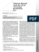 What is Evidence Based Dentistry, And Do Oral Infections Increase Systemic Morbidity or Mortality 491 496