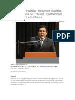 Precedente del caso Huatuco
