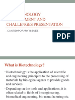 Biotechnology advances and challenges
