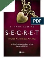 L. Marie Adeline - SECRET 1 - Μπορείς Να Κρατήσεις Μυστικό;