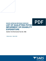 Prescribed list of qualifying disability deductions view right side of blog for discussion and summary