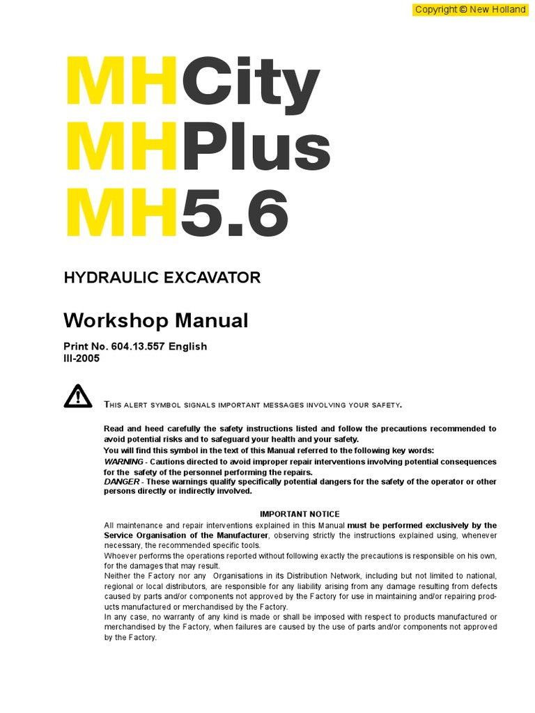 New Holland MH5 6_EN | Battery (Electricity) | Personal Protective