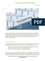 Get the Guidelines for I&D Coding