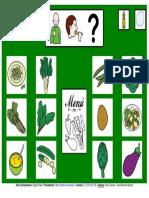 Tablero Verduras 12 Casillas