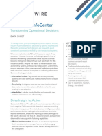 InfoCenter 8.3 Data Sheet Transforming Operational Decisions