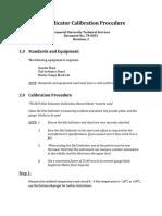 Dial Indicator Calibration Procedure TS-0051