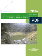 Informe Topografico quebrada Sahuanay, Abancay