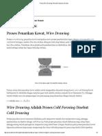 Proses Wire Drawing, Penarikan Kawat _ Ardra