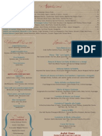 Il Pasticcio Restaurant & Wine Bar Dinner Menu