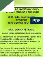 Presentacion en diapositivas I SÍNTESIS delPrograma 2015 de Tecnicas de Investigación en Opinión Pública y Mercado.n