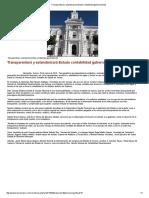 29/03/16 Transparentará y estandarizará Estado contabilidad gubernamental  -Kiosko Mayor