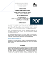 LABORATORIO No. 3 ACCION DE UNA ENZIMA PRESENTE EN TEJIDOS VEGETALES Y ANIMALES.
