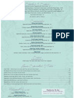 Il Pasticcio Restaurant & Wine Bar Lunch Menu 2010