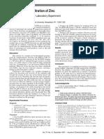 Complexometric Titration of Zinc