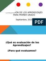 Evaluación de Los Aprendizajes - Agosto-2015